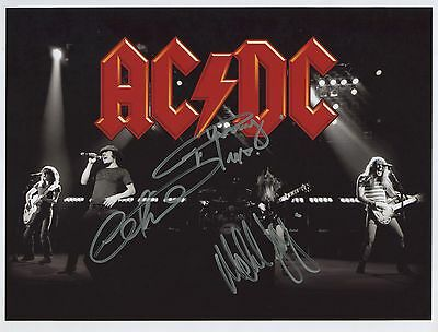 AC/DC SIGNED Photo 1st Generation PRINT Ltd 150 + Certificate / 7