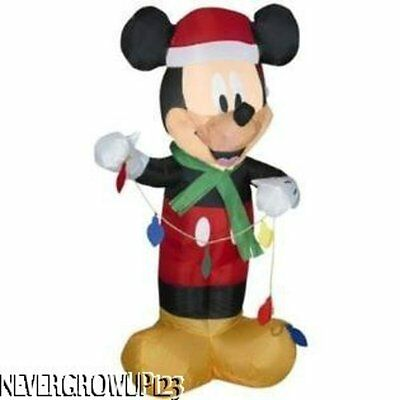 GEMMY AIRBLOWN MICKEY MOUSE LIGHTED INFLATABLE~85TH ANNIVERSARY~3.5 FT~NIB