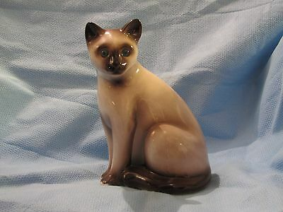 VINTAGE ELPA ALCOBACA SIAMESE CAT CERAMIC FIGURINE made in PORTUGAL