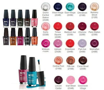 Nyc In A New York Colour Minute Quick Dry Nail Polish / Varnish # 9.7Ml *choose*