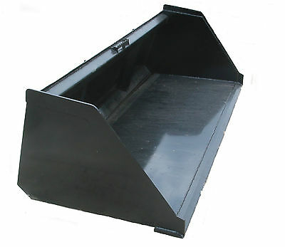 """90"""" Snow And Litter Bucket Skidsteer Attachment Quick Attach Free Shipping!"""