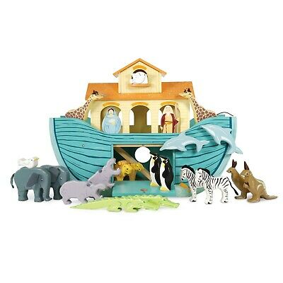 Brand New Le Toy Van Noah's Great Ark Wooden Toy with 10 Pairs of Animals Noahs