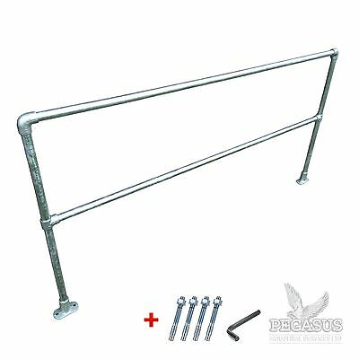 Pipe Clamp Handrail System 34mm - Safety Barrier Kit - Allen Key Q Rail Scaffold