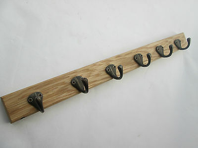 2 sizes SOLID ENGLISH OAK WOODEN COAT KITCHEN  HANGER RAIL RACK