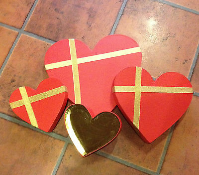 6 x HEART SHAPED GIFT BOXES / CHOCOLATE BOXES  FREE FAST POSTAGE