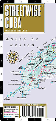 STREETWISE Cuba Map 2014 - NEW Laminated Road Map of Cuba with Havana Map