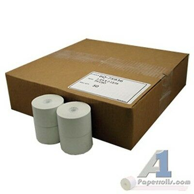 "Lot of 2 Cases of 1 3/4"" x 220' Thermal Cash Register Paper Rolls 50/Case"