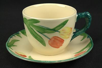 Franciscan Tulip Cup and Saucer Set(s) Hand Decorated MINT