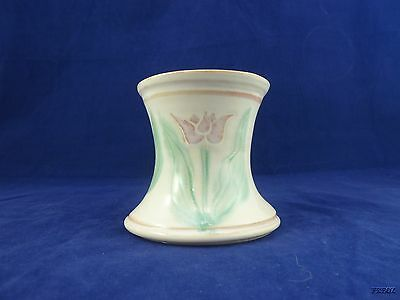 Hand Thrown Art Pottery Carnation Vase with Tulips