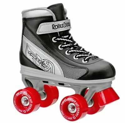 Roller Derby Firestar Kids Boys Black Quad Roller Skates Us Size  12 FREE POST