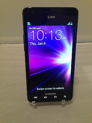 """SAMSUNG GALAXY S2 II SGH-I777 16GB BLACK (AT&T) Excellent Condition """"Black"""""""