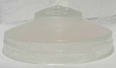 Old Frosted Clear Glass Ceiling Light Fixture