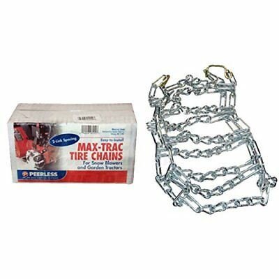 A284 Snow/Mud Tire Chains 16X6.5X8 2-Link Blower Thower Pair