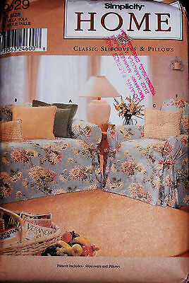 Simplicity Home Pattern #9529 Classic Slipcovers & Pillows Uncut