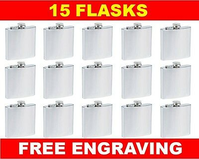 15 Personalized Flasks 6oz groomsmen usher best man bridesmaid engraved gift