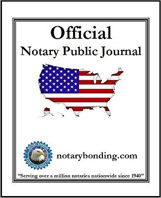 NEW Official Notary Public Recording Journal / Book (Usage For All 50 States)