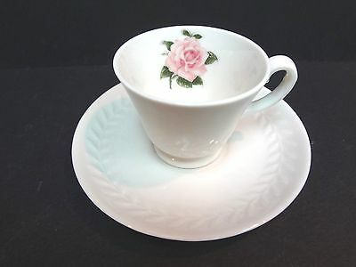 "Theodore Haviland  Demi Cup & Saucer Set-Regent Park ""Rose"". Free Priority Ship!"