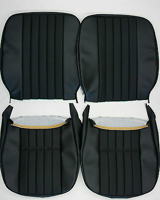 Porsche 911 912  Early Seat Cover Set Square Back W/ Basket Weave German  Vinyl