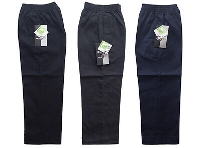 Boys School Uniform Pull Up Trousers * Full Elasticated Waist * 2 to 13 Years *