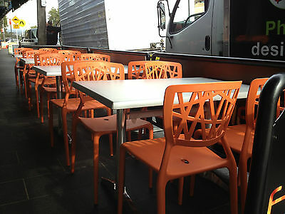 Orange Chairs Commercial Quality  - NEW IN THE BOX  - Stackable - ON SALE