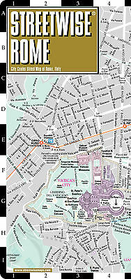 STREETWISE Rome Map 2015 - NEW Laminated City Center Street Map of Rome, Italy