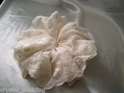 Lace and Satin bouquet collar frill
