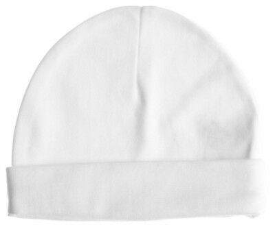 Baby Jay 100% Cotton White Baby Pull on Hat Cap Boy Girl 0-3-6-12 Months -333516
