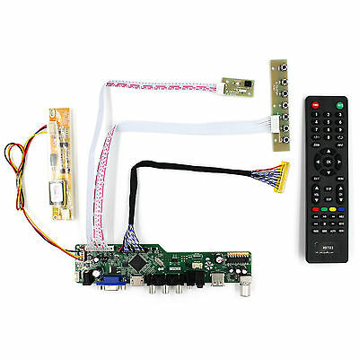 TV HDMI VGA AV USB LCD driver board work for 15.4 17inch 1440x900 30P 1CCFL LCD