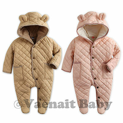 "Vaenait Baby Hoodie Snowsuit Padded Jumpsuit All in one ""Pastel Padding"" 6-24M"