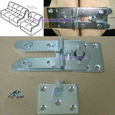 """Sectional Sofa Couch Connector Snap Style And 8 screws """"Alligator Style"""""""