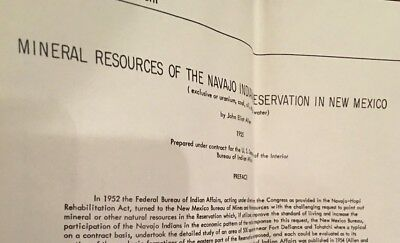Mineral Resources Of Navajo Reservation 1955
