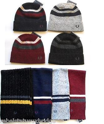 FRED PERRY Authentic Accessories Scarf Twin Tipped Lambswool Various Colours