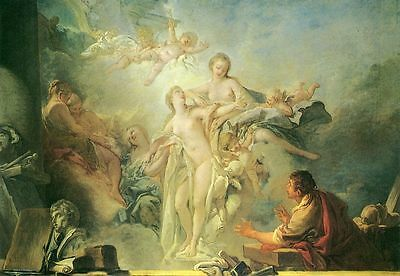Art Beautiful Oil painting francois boucher - Toilet of Venus with angels canvas