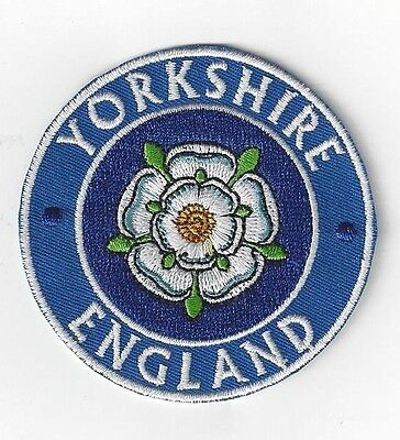 Yorkshire Uk   Iron On Patch Buy 2 Get 1 Free= 3 Of These.