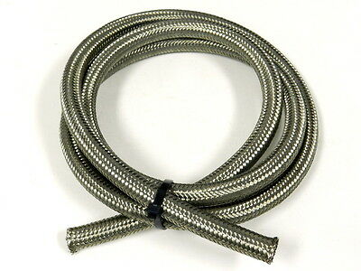 5FT -10 10AN STAINLESS STEEL BRAIDED OIL FUEL WATER HOSE LINE 15K PSI