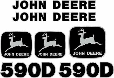 New John Deere 590D Excavator Decal Set JD Decals