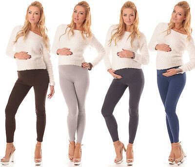 New Stretchy Maternity Leggings Over Bump Full Length Size 8 10 12 14 16 18 1000