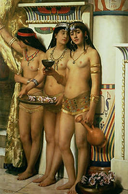 Large Oil painting three young nice naked girls Arab beauties free shipping cost