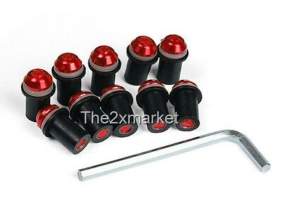 US Ship Red Windscreen Windshield Screws Bolts For Ducati 749 848 999/S/R 1198/S
