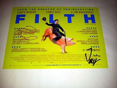 "Filth Cast X2 Pp Signed 12""x8"" Poster James Mcavoy Jamie Bell"