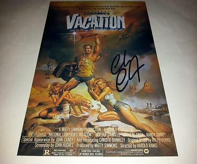 "National Lampoons : Vacation Pp Signed 12""x8"" Poster Chevy Chase"