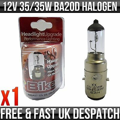 Motorbike & Scooter 12V 35/35W Ba20D H1 Halogen Upgrade Bulb 'e' Approved
