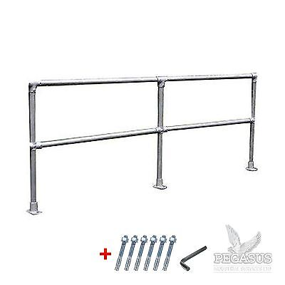 Safety Handrail Barrier - 42mm Pipe Clamp - Allen Key Fittings Galvanised Steel