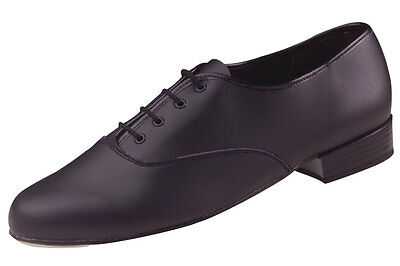 Mens Freed Pu Oxford Low Heel Shoes Black New