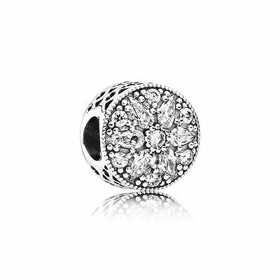 New Authentic Pandora 791762CZ RADIANT BLOOM, CRYSTAL CZ Charm Sterling Silver