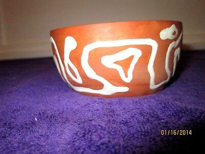 Art Pottery Nut Candy Dish  Pottery Brown White