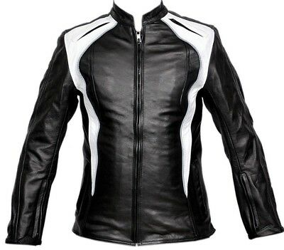 Women Motorcycle Jacket Leather Motorbike Rider Touring CE Armour Protection