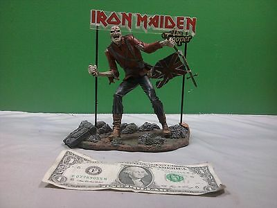 Iron Maiden Eddie The Trooper Figure, Base, and Sign Spawn McFarlane Toys 2002