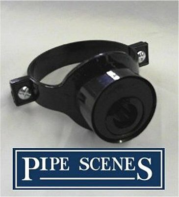 Solvent 110mm Soil Pipe Strap Reducer Overflow 21.5mm - Black Glued