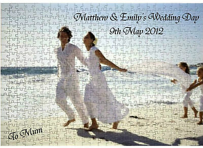 Personalised Jigsaw Puzzle Add you own Photo & Message FREE Lovely GIFT A3 384 p